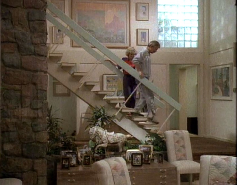 Brady Bunch house staircase 1980s