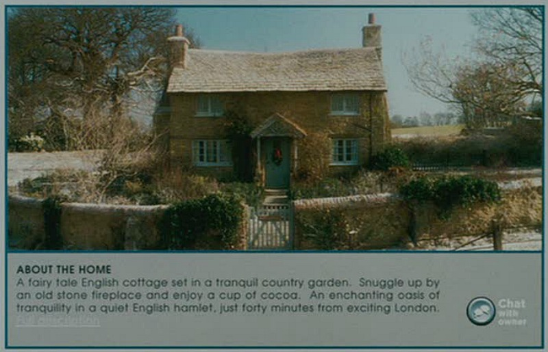 Ad for English Cottage in The Holiday