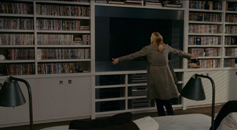 Amanda's house in The Holiday movie media room