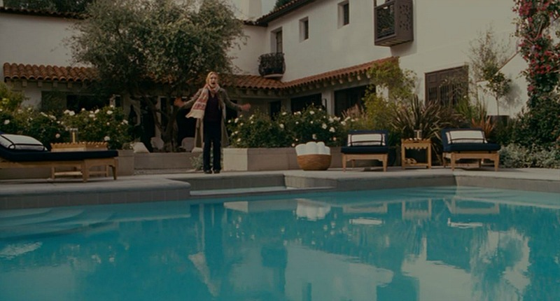 Amanda's house in The Holiday movie pool