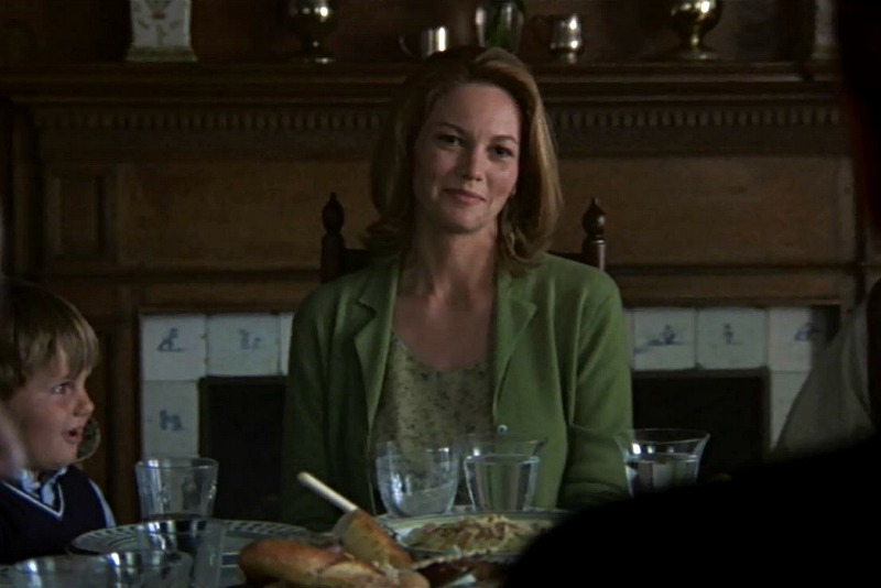 Diane Lane Unfaithful movie dining room fireplace