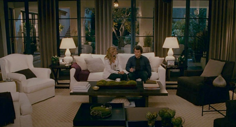 Amanda's house in The Holiday movie living rm
