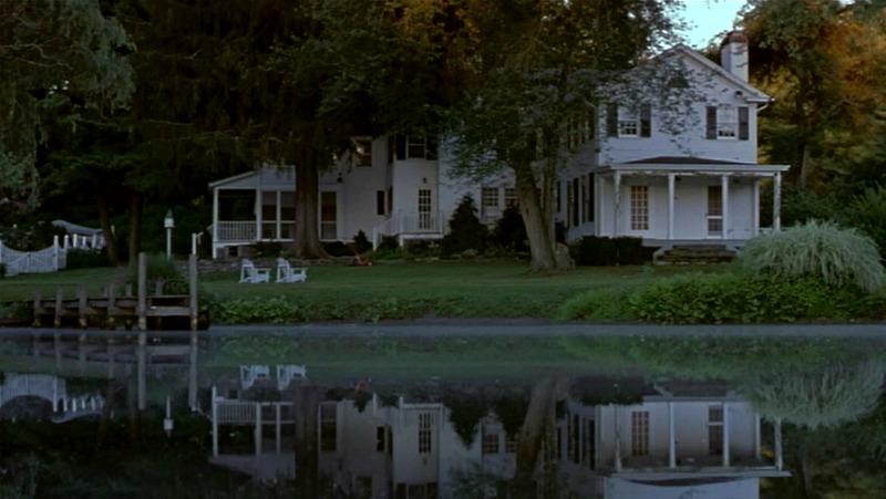 Unfaithful movie house porch on lake