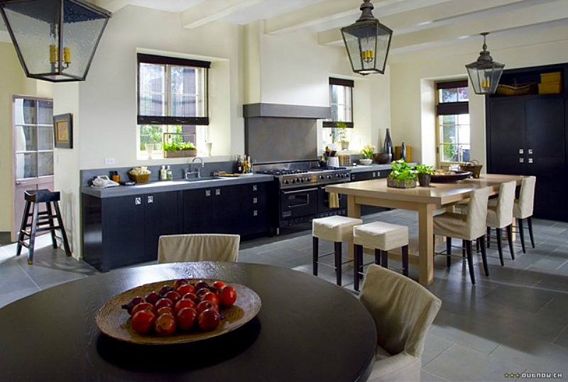 contemporary kitchen in The Holiday movie