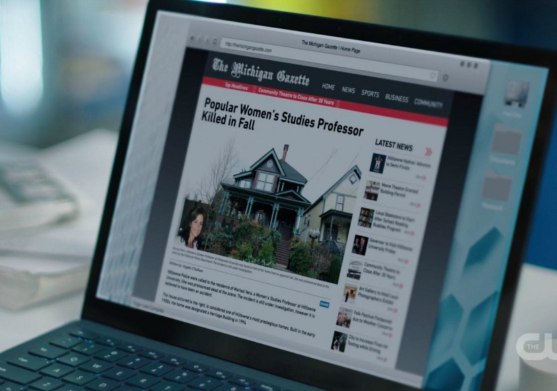 Charmed news article with picture of house