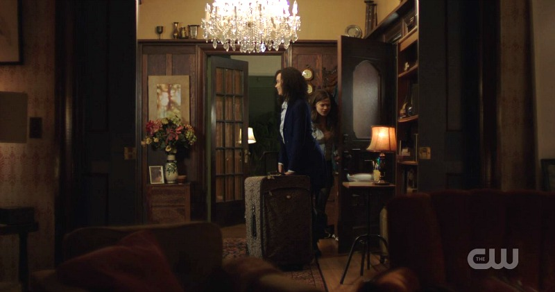 Charmed reboot CW entry hall in house
