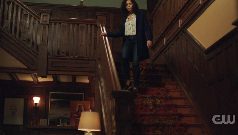 Charmed reboot CW staircase in house