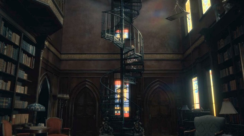 Netflix Haunting of Hill House screenshot - library