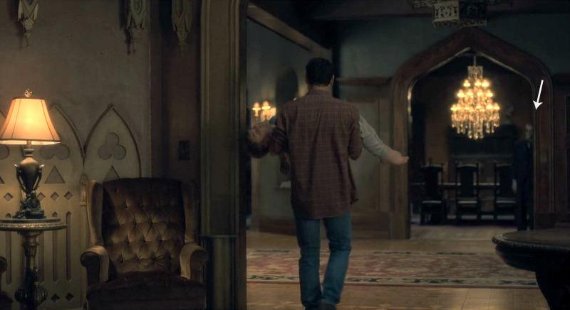 Netflix Haunting of Hill House screenshot - ghost sighting
