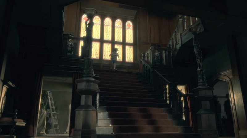 Netflix Haunting of Hill House screenshot - staircase