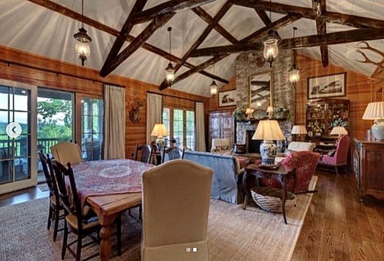 wood paneled living room before