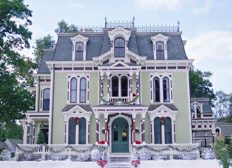 "The Silas W. Robbins House B&B featured in the Hallmark movie ""Christmas on Honeysuckle Lane"""