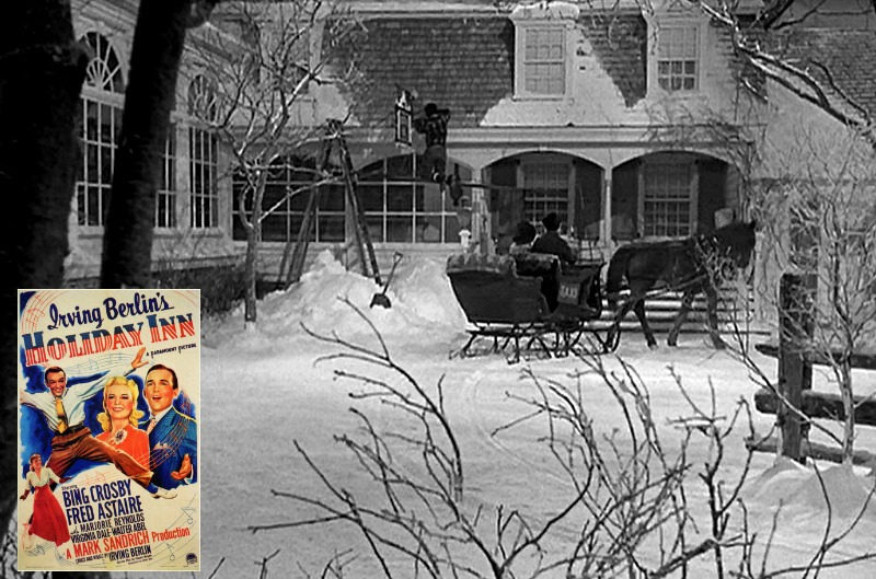 Holiday Inn 1942 movie with horse-drawn sleigh