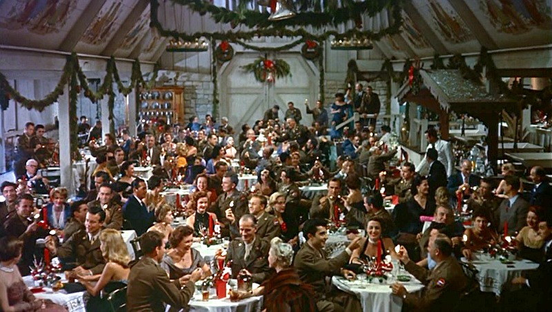 White Christmas Ski Lodge Barn audience