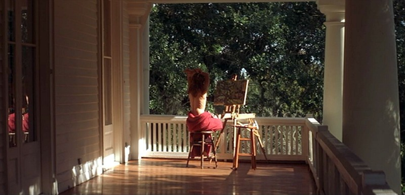 Allie painting on the porch The Notebook