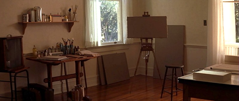 Allie's art room in The Notebook