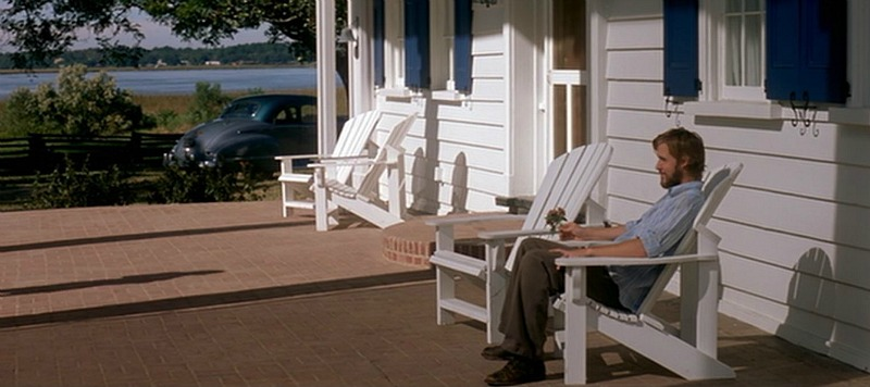 Noah on the front porch in The Notebook movie
