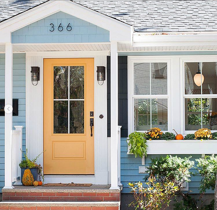 Yellow Cottage Door SoPo Cottage Makeover