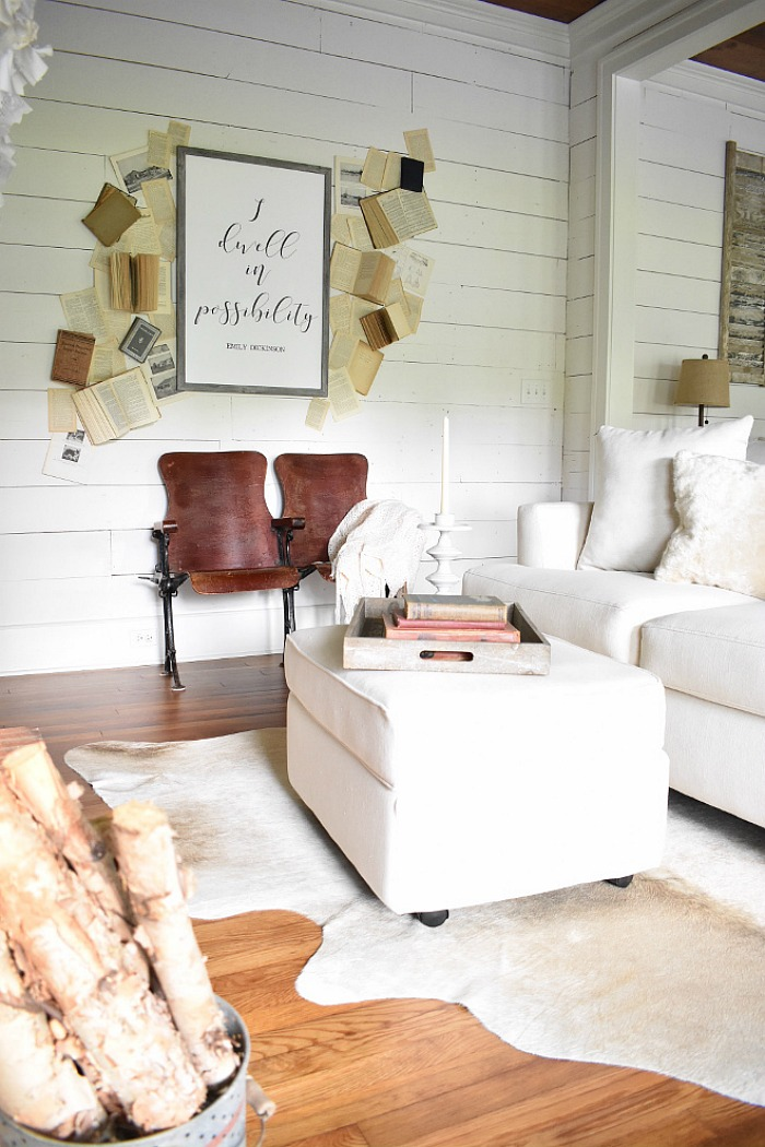 Sara's Simply Southern Cottage DIY book wall