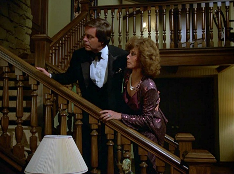 Celebrity Dining: Hart to Hart TV show entry hall staircase