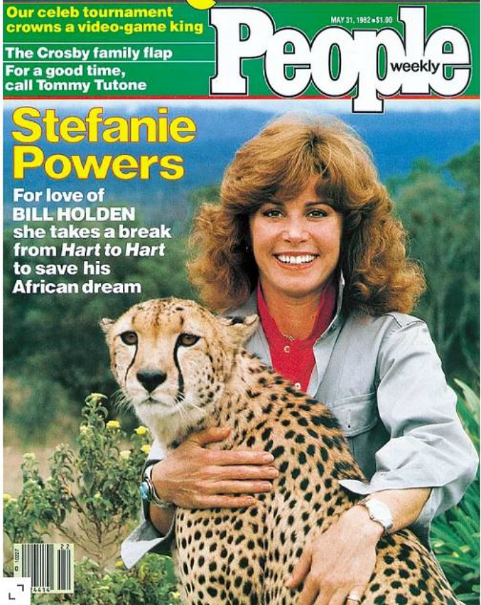 Celebrity Dining: Stefanie Powers People Magazine cover 1982