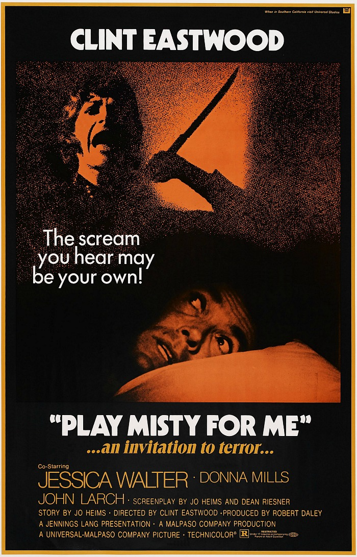 Play Misty for Me movie poster Clint Eastwood