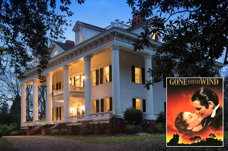 Inspiration for Twelve Oaks Gone With the Wind