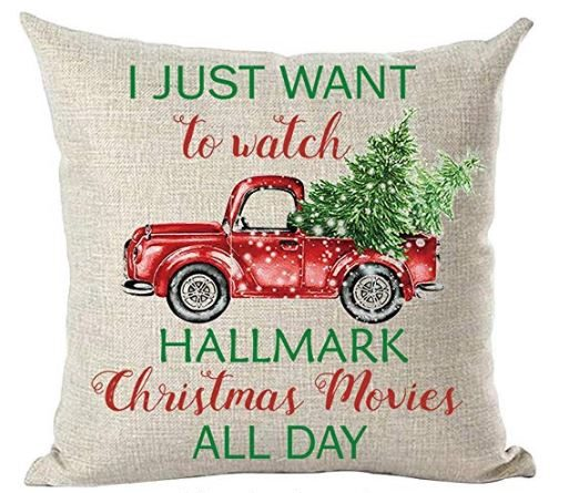 Hallmark Christmas Movie Pillow with Red Truck