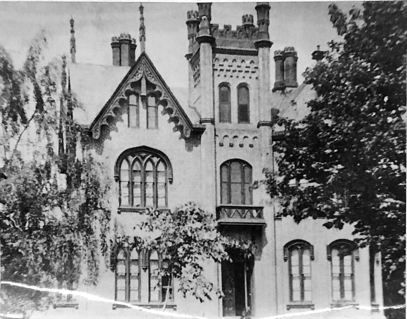 Old B&W Photo James Seymour Mansion Auburn NY