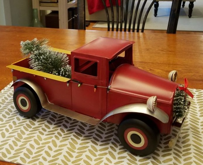 Red Pickup Truck Christmas