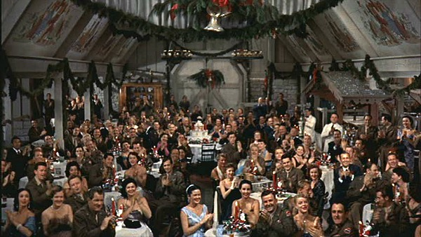 White Christmas audience in the barn