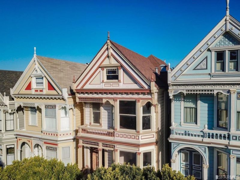 Painted Lady on Postcard Row in San Francisco