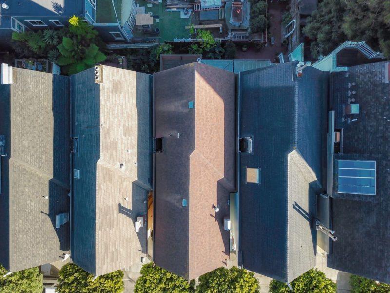 Rooftops of Painted Ladies in San Francisco