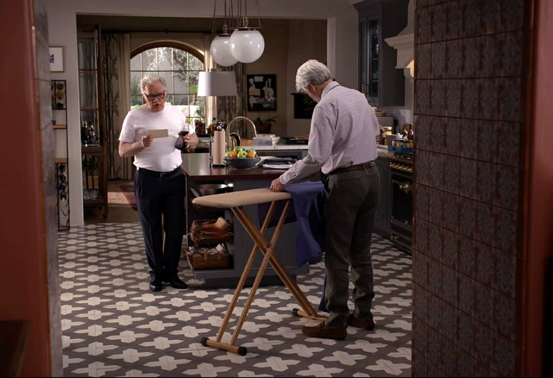 Tile in Robert and Sol's Kitchen Grace and Frankie