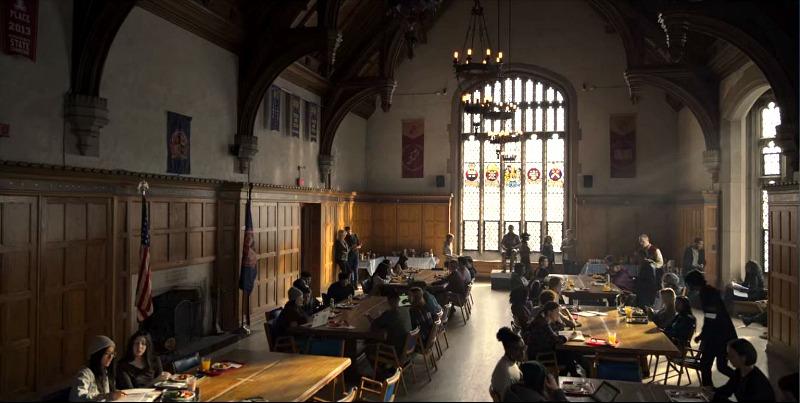 Boarding School on Locke and Key Grand Hall Cafeteria