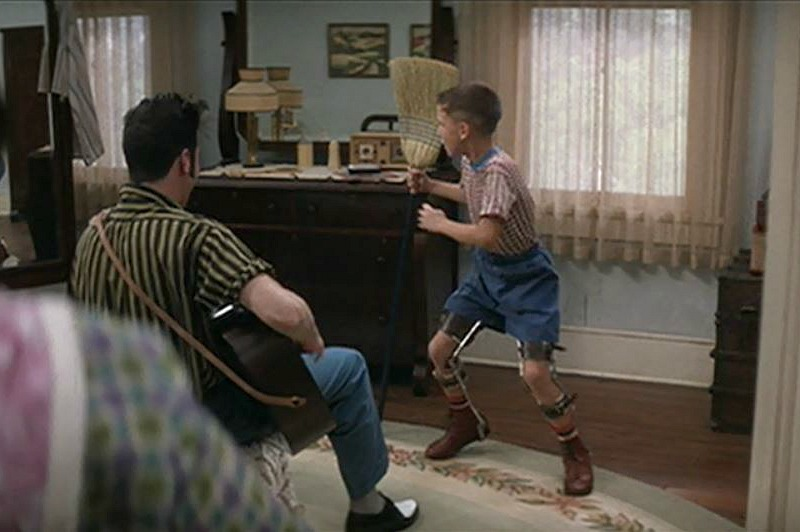 Elvis and Young Forrest Gump Boarding House
