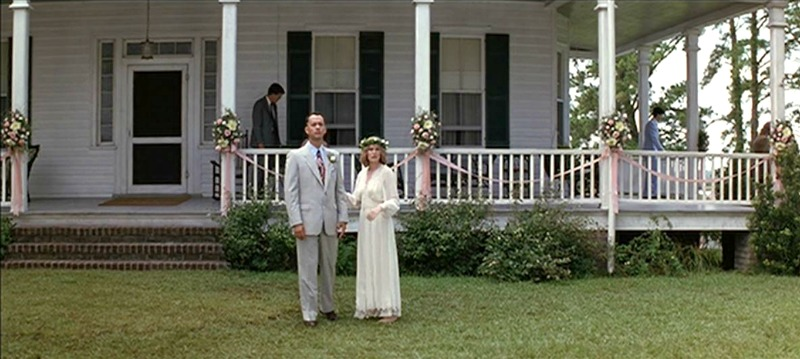 Forrest Gump and Jenny Wedding Day at the House