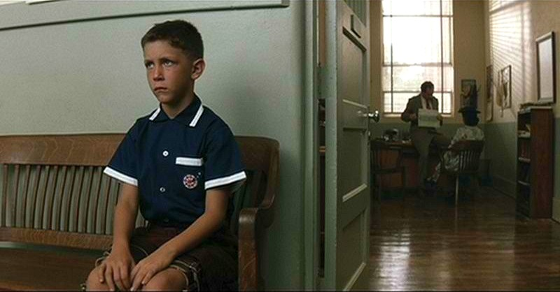 Forrest Gump outside principal's office Norman Rockwell
