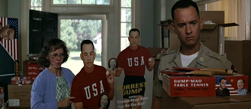 Forrest Gump with Ping Pong Merch Closed Eyes