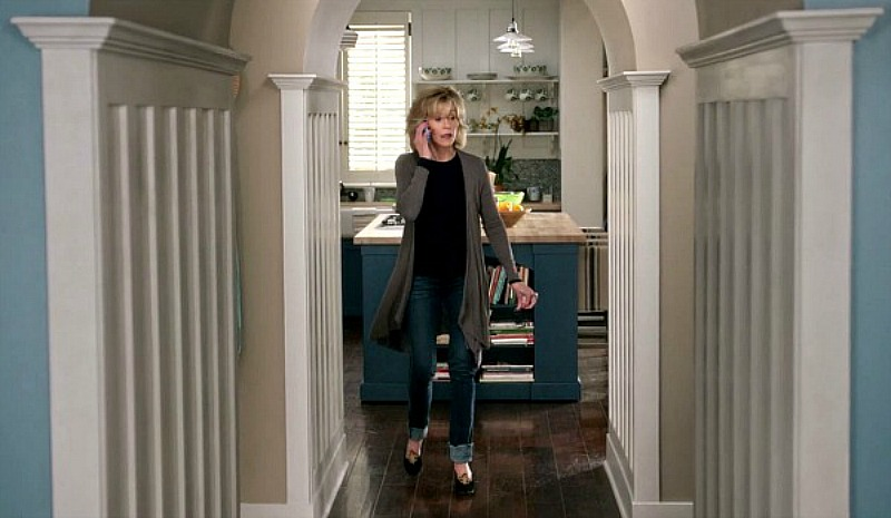 Grace and Frankie arched hallway off kitchen