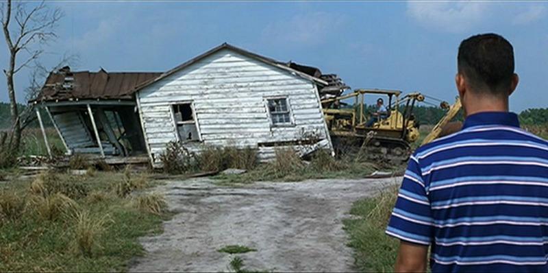 bulldozing Jenny's house Forrest Gump