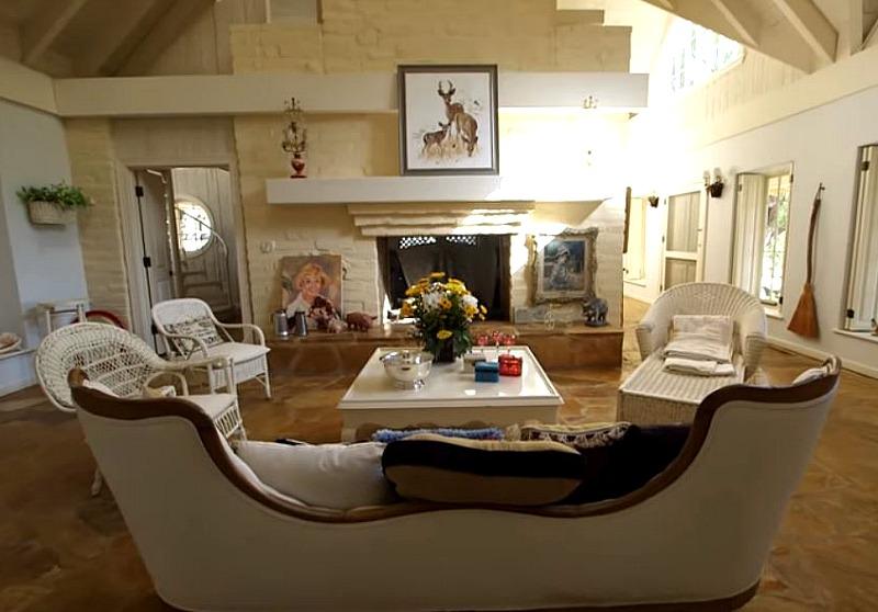 Doris Day House Carmel by the Sea Bedroom Fireplace