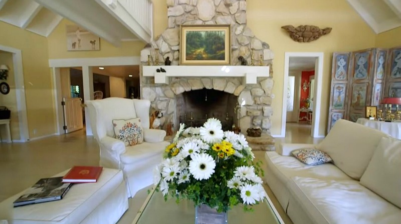 Doris Day House Carmel by the Sea Living Room Fireplace