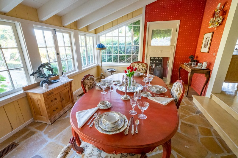 Doris Day's Dining Room Table House in Carmel