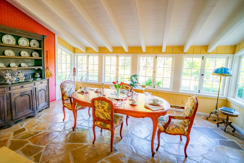 Doris Day's Former Home in Carmel Dining Room Set
