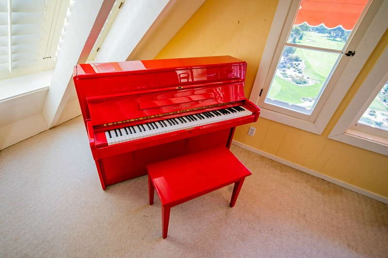 Doris Day's Red Upright Piano from Terry Melcher