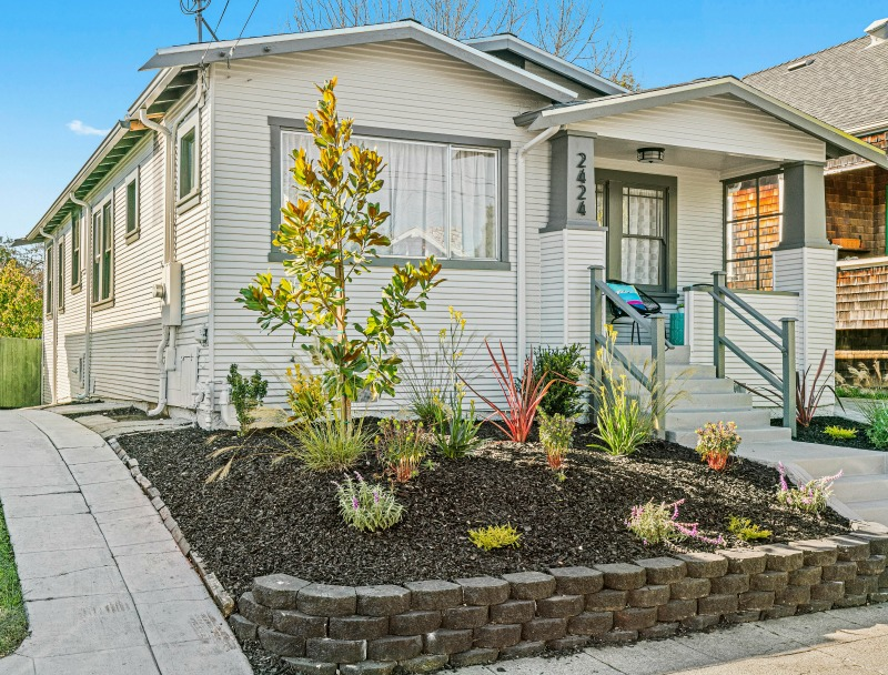 white bungalow in Berkeley for sale