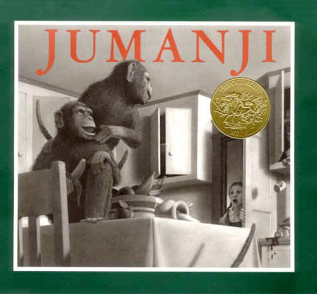 Jumanji book by Chris Van Allsburg