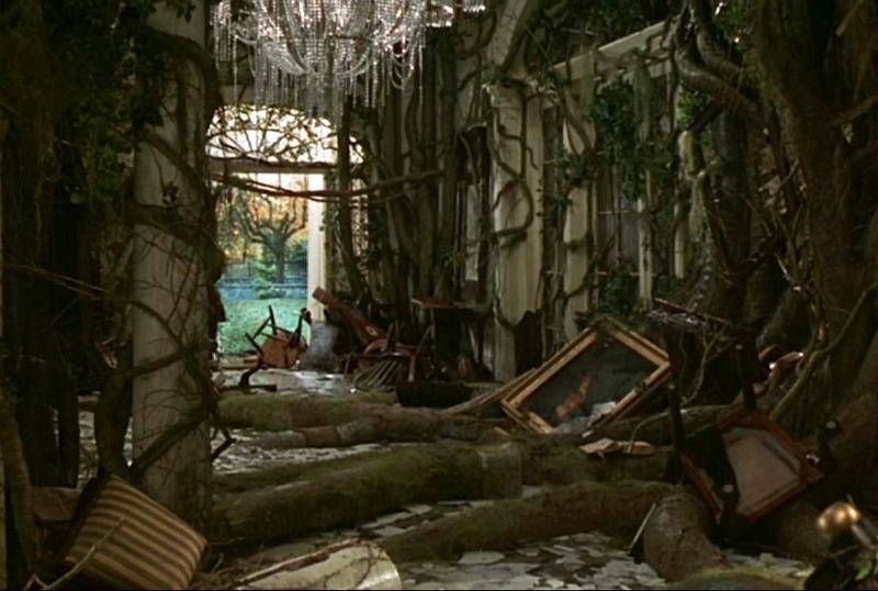Jumanji house 1995 front hall jungle