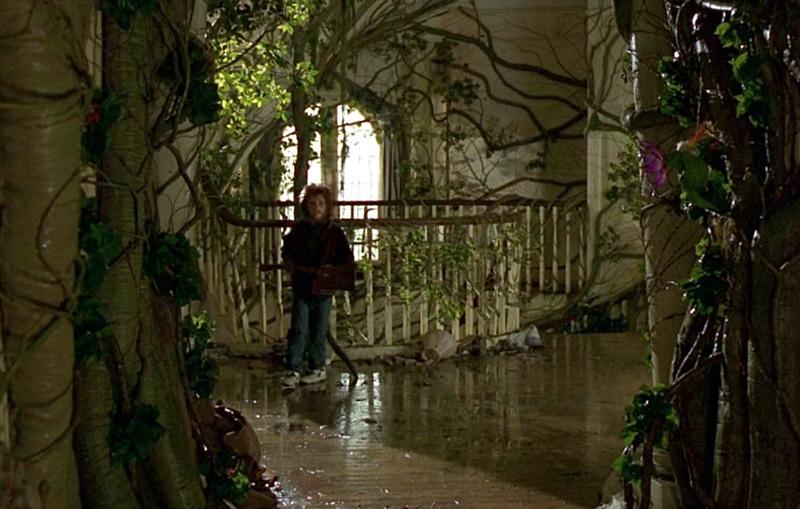 Jumanji mansion upstairs landing jungle 1995
